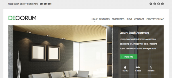 decorum 25 High Quality Real Estate WordPress Themes