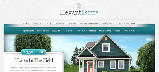 elegant estate 25 High Quality Real Estate WordPress Themes