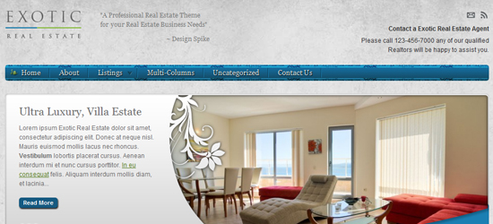 exotic real estate 25 High Quality Real Estate WordPress Themes