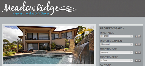 meadow ridge 25 High Quality Real Estate WordPress Themes