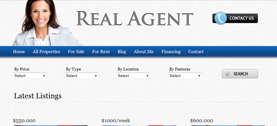 real agent 25 High Quality Real Estate WordPress Themes