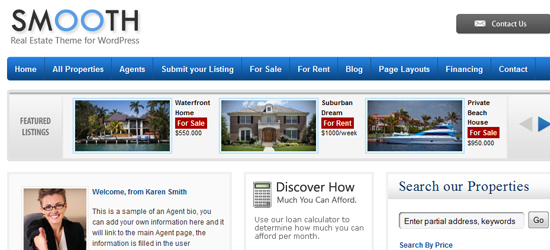 smooth 25 High Quality Real Estate WordPress Themes