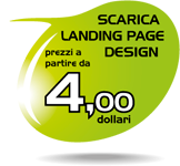 Landing page template per campagne di email marketing professionali