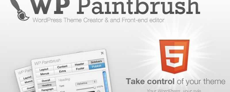 Tema WordPress modificabile via front-end: WP Paintbrush theme