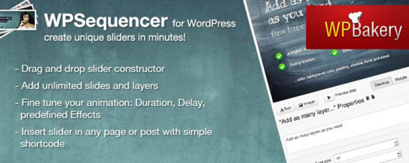 Slider css3 per WordPress con Meet the WPSequencer plugin