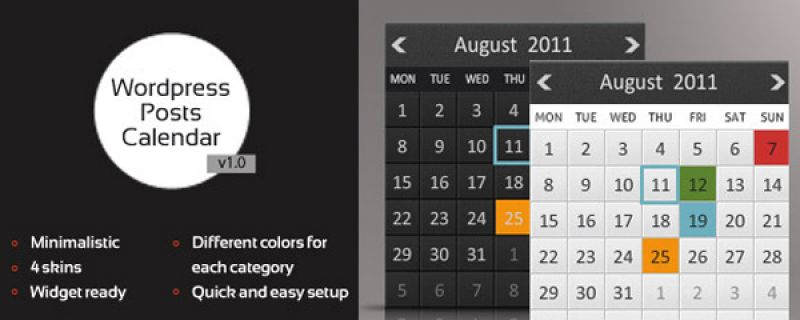 Calendario in siti WordPress: Animated Posts Calendar plugin