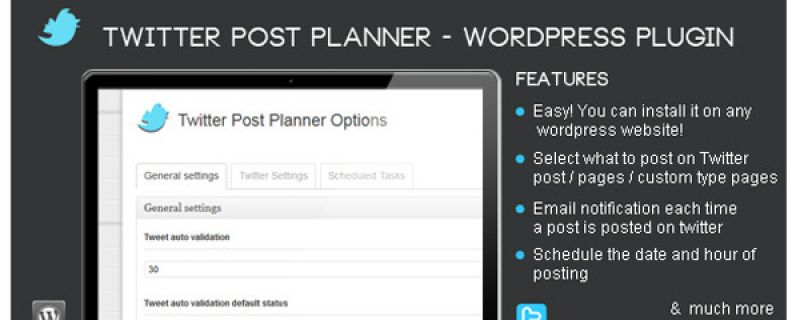 Pubblicare tweet da WordPress: Twitter Post Planner plugin