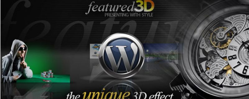 Galleria in 3D per multimedia su siti WordPress: f3D plugin