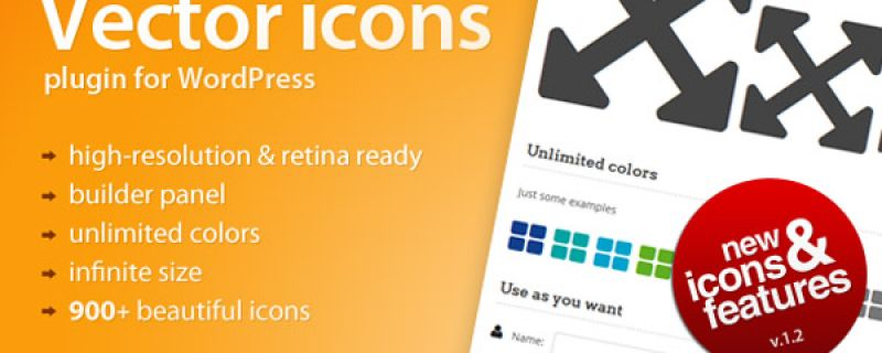 Icone vettoriali per siti WordPress: Vector Icons plugin