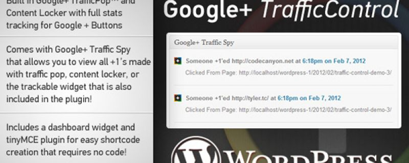 Google+ per WordPress: Google Plus Traffic Control plugin