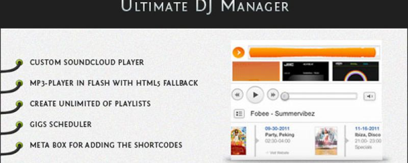 Blog musicale sul tuo sito WordPress: Ultimate Dj Manager plugin