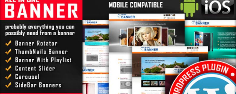 Slideshow plugin per siti WordPress: All in One Banner