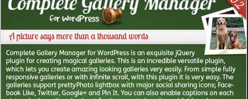 Gallerie per immagini in WordPress: Complete Gallery Manager